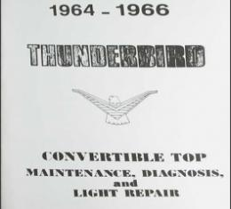 1964 1966 -66 Convertible Top Repair & Adjustment Manual, 36 Pages