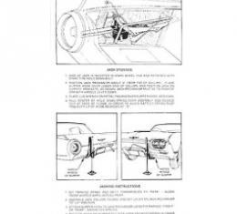 Ford Thunderbird Jack Instruction Decal, 1961