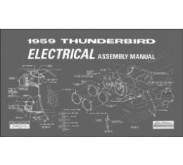 1959 Thunderbird Electrical Assembly Manual, 86 Pages