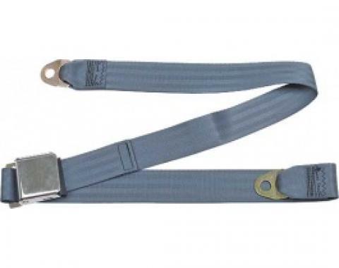 "Seatbelt Solutions Ford/Mercury, Rear Universal Lap Belt, 60"" with Chrome Lift Latch 1800604002 | Blue"