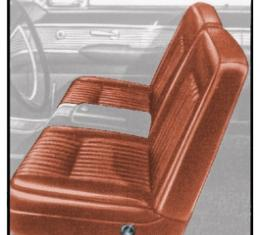 Ford Thunderbird Front Bucket Seat Covers, Vinyl, Medium Chestnut Metallic (Rust) #28, Trim Code 59, 1962