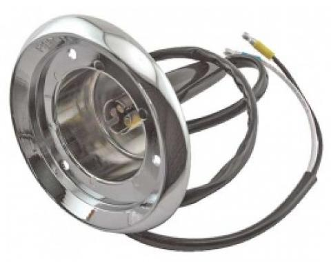 Ford Thunderbird Parking Light Body, Includes Correct Wire Pigtail, 1956