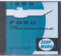Shop Manual CD, Thunderbird, Requires Windows To Use, 1959