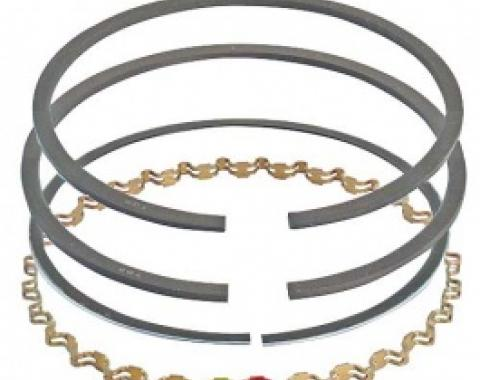 Ford Thunderbird Piston Ring Set, Cast Iron, Standard Size, Comp. Size .078 And Oil Size .187, 390 V8, 1966