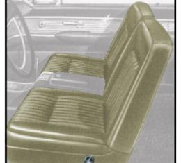 Ford Thunderbird Front Bucket Seat Covers, Vinyl, Light Beige (Pearl White) #26, Trim Code 54, 1961-62