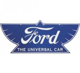 Ford THE UNIVERSAL CAR Sign, Double Sided With Hanger, 34 x 14