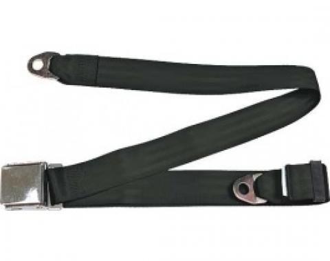 "Seatbelt Solutions 1949-1979 Ford | Mercury Lap Belt, 74"" with Chrome Lift Latch 1800741000 | Black"