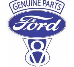 Genuine Ford Parts V8 Sign, Single Sided, 22 x 27