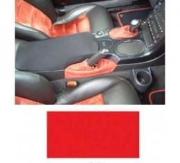 Corvette Custom Center Console Cover, EZ-E Fit, Red, 2005-2013