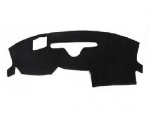 Corvette Dash Mat, With Heads Up Display Option, Black, 2005-2013