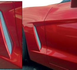 Corvette Side Fender Screens Stainless Steel, 2005-2013