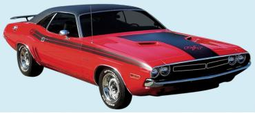 Challenger R/T Striping Kit, 1971 | White Stripe