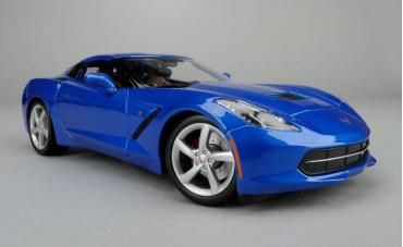Corvette 2014 Coupe Light Blue 1/24 Diecast