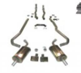 """Corvette Exhaust System, 2"""" to 2 1/2"""" Automatic, with Magnaflow Mufflers & Tips, 1968-1972"""