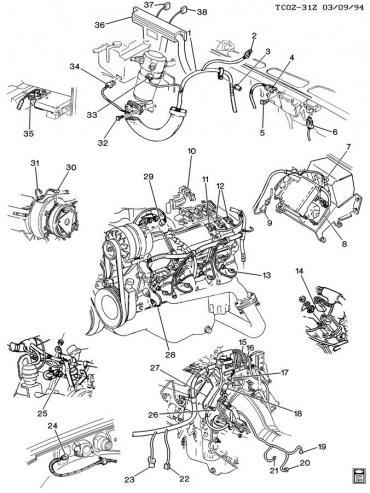 Corvette Exhaust Manifold Head Valve Connector, Emission Control System, 1984