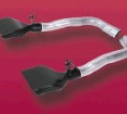 Corvette Muffler Eliminator Pipes, with LT1 Tips, 1984-1990
