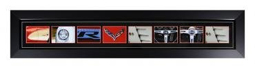 Corvette Word Art Framed Panorama
