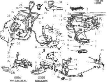 Corvette Temperature Control Cable, 1984-1987