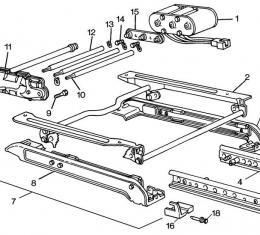 Corvette Seat Adjuster Front Cover, Inner, 1984-1996