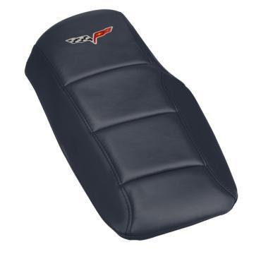 Corvette Console Cushion, with Embroidered C6 Logo, Cyber Gray, 2005-2013