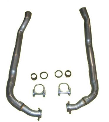 """Corvette Exhaust Pipes, Front 2"""" to 2 1/2"""" Automatic, 1968-1974"""