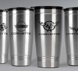 Corvette Stainless Travel Mug, C5 Logo