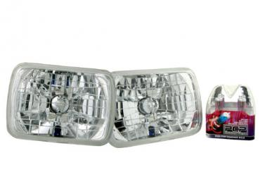 Corvette Headlamp Conversion Kit with Standard Halogen Bulbs, 1984-1996