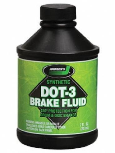 Brake Fluid, DOT 3 Synthetic, 12 Ounce