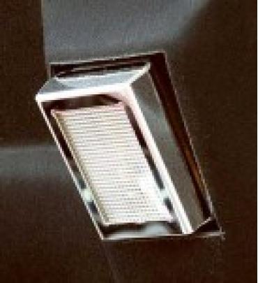 Corvette Under Hood Light Cover, Stainless Steel, 1997-2004