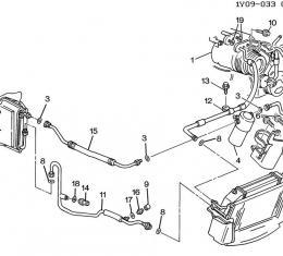 Corvette Air Conditioning Evaporator Tube, 1994-1996