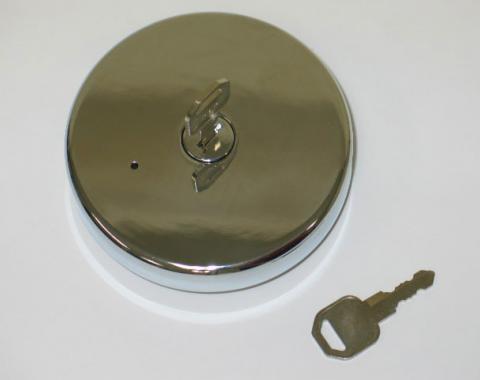 Corvette Locking Gas Cap, Chrome, 1970-1974