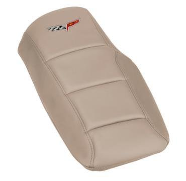Corvette Console Cushion, with Embroidered C6 Logo, Cashmere, 2005-2013
