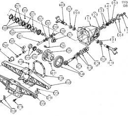 Corvette Rear Axle/Differential Pinion Bearing, 1985-1996