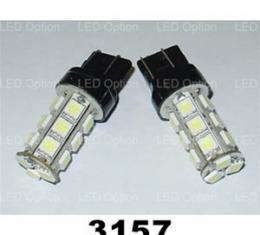 Corvette Blue SMD LED Light Bulb, #3157, Pair, 1997-2013