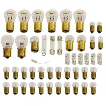 Corvette Light Bulb Set, 47 Pieces, 1976