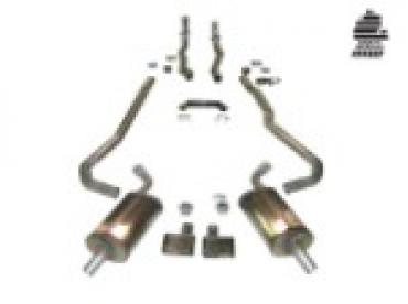 """Corvette Exhaust System, 2"""" to 2 1/2"""" Manual, with Magnaflow Mufflers & Tips, 1968-1972"""