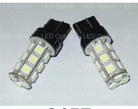Corvette Amber SMD LED Light Bulb, #3157, Pair, 1997-2013