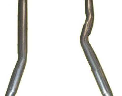 "Corvette Intermediate Exhaust Pipes 4 Speed, 2 1/2"", 1968-1979"