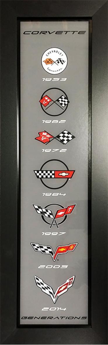 Corvette Generations Framed Panel