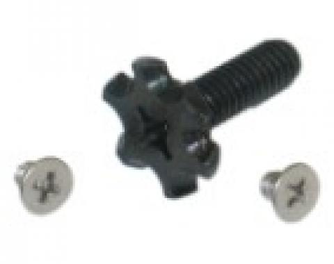Corvette Telescopic Steering Column Lock Ring Star Screw, with Screws, 1969-1989