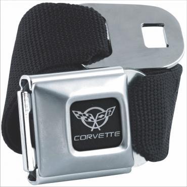 Corvette Seatbelt Belt, Black with C5 Logo
