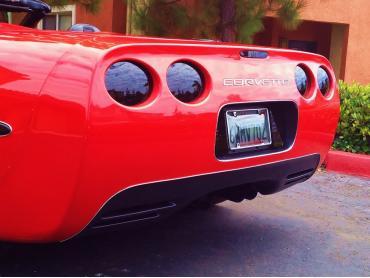 Corvette 9 Piece Blackout Kit with Molded Tail Lights, Acrylic, 1997-2004