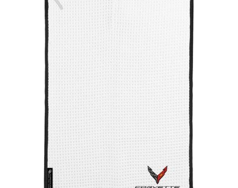 Golf's Finest Microfiber Cart Towel - Next Generation Corvette, White