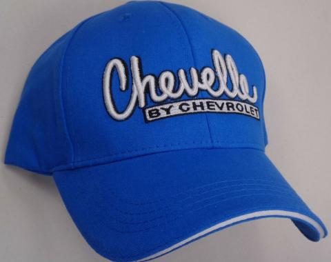 Chevelle Cap, Solid Blue, With Bowtie Logo