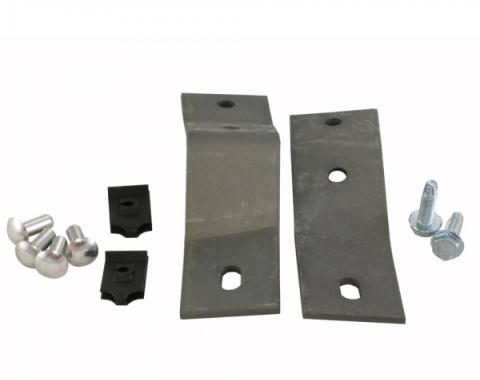 Corvette Side Exhaust Cover Hardware Set, Front, 1965-1967