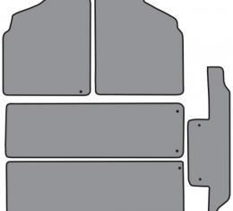 ACC  Nissan Quest 2pc Frts 2pc Rr Runners & Side Door Floor Mat 5pc (FM138 FM138R) Cutpile, 1993-1998