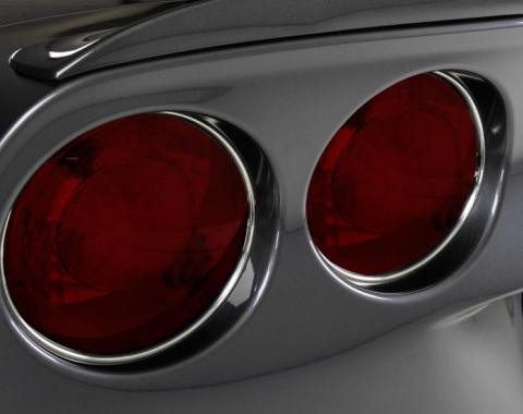 American Car Craft 2005-2013 Chevrolet Corvette Taillight Chrome Vinyl Trim Kit 4pc 042089