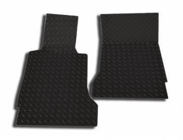 American Car Craft 2005-2013 Chevrolet Corvette Floor Mats Show Diamond Plate Black 041004