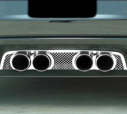 American Car Craft 2005-2013 Chevrolet Corvette Exhaust Filler Panel NPP Exhaust Laser Mesh 042006