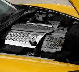 American Car Craft 2008-2019 Chevrolet Corvette Fuel Rail Covers Perforated Replacement w/cap C6 08-13 043051